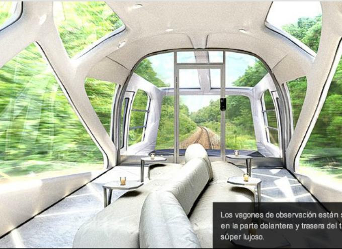 Diseñador de Ferrari crea tren japonés superlujoso