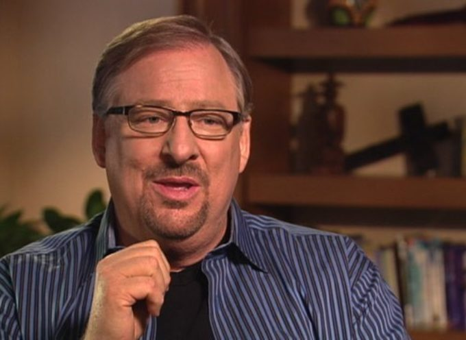 """Rick Warren revela que recibió cartas diciendo """"por causa de su hijo estaré en el cielo"""""""