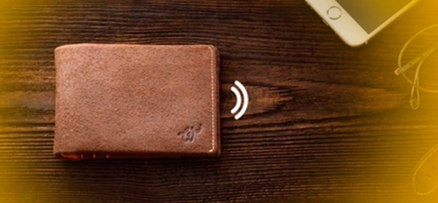 Una billetera que te avisa si te la dejas olvidada