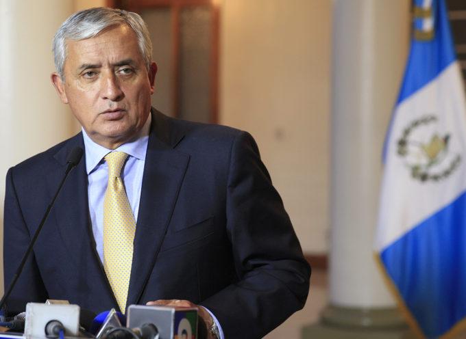 Presidente Otto Pérez quien reconoció a Palestina como Estado es acusado de corrupción