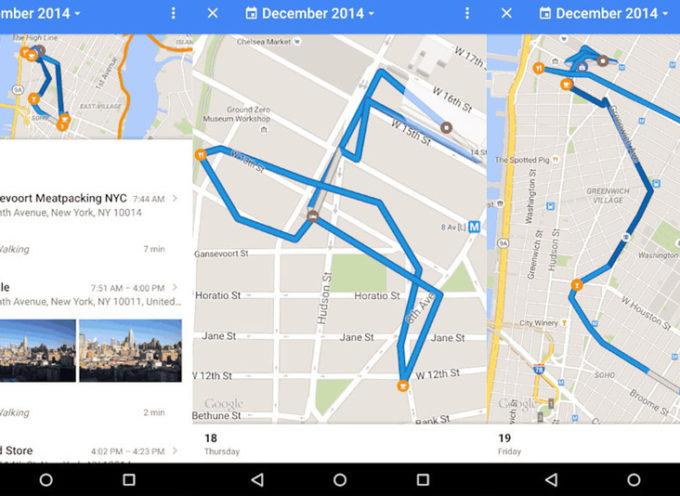 Google creó una línea de tiempo con la historia de cada usuario