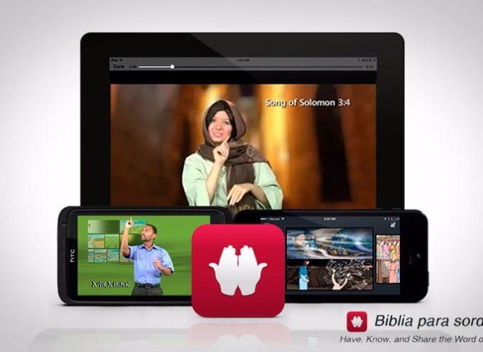 Aplicación de la Biblia para sordos llega a miles de estadounidenses