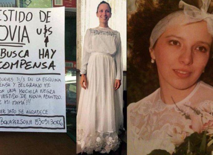 Insolito: Vino desde Italia a casarse, le robaron el vestido y ahora lo busca