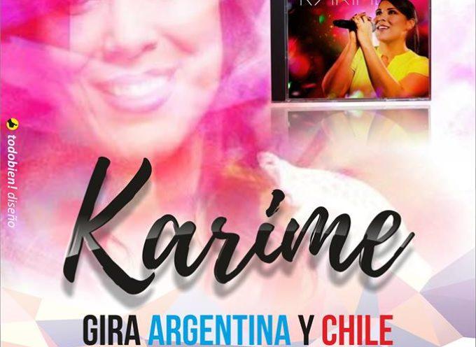 Karime realizará una nueva gira en Argentina y Chile