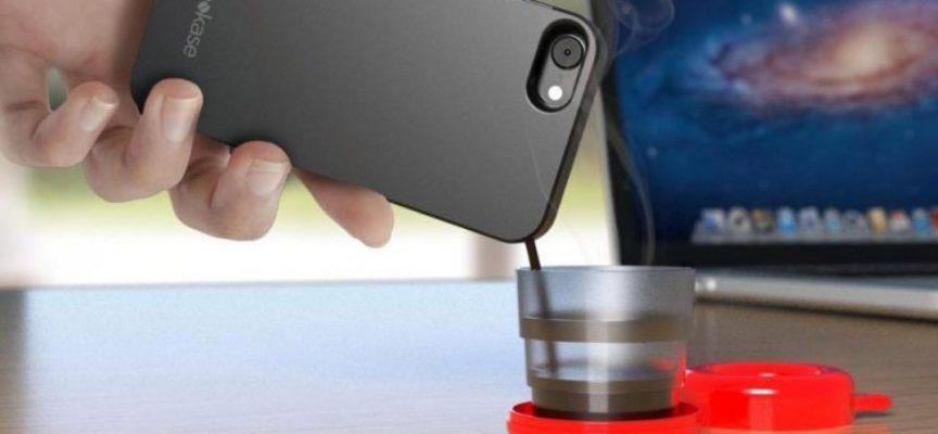 Un smartphone que funciona como máquina de café