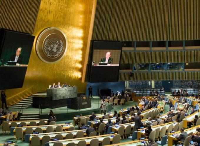 Estatua de diosa de la guerra se erige en la ONU